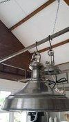 Zilverkleurige hanglamp (PTMD)