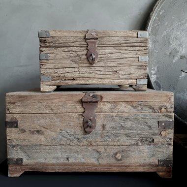 Mooi oud houten kistje (Large)