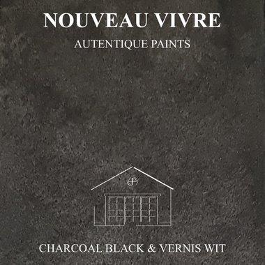 BETONSTUC PAKKET OVER TEGELS (CHARCOAL BLACK EN VERNIS WIT)