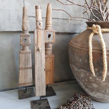 Vergrijsde houten spool