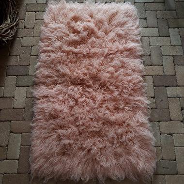 Wollen vacht (soft pink)
