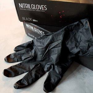 Nitril gloves black (S)