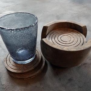 Stoere set onderzetters (hout)